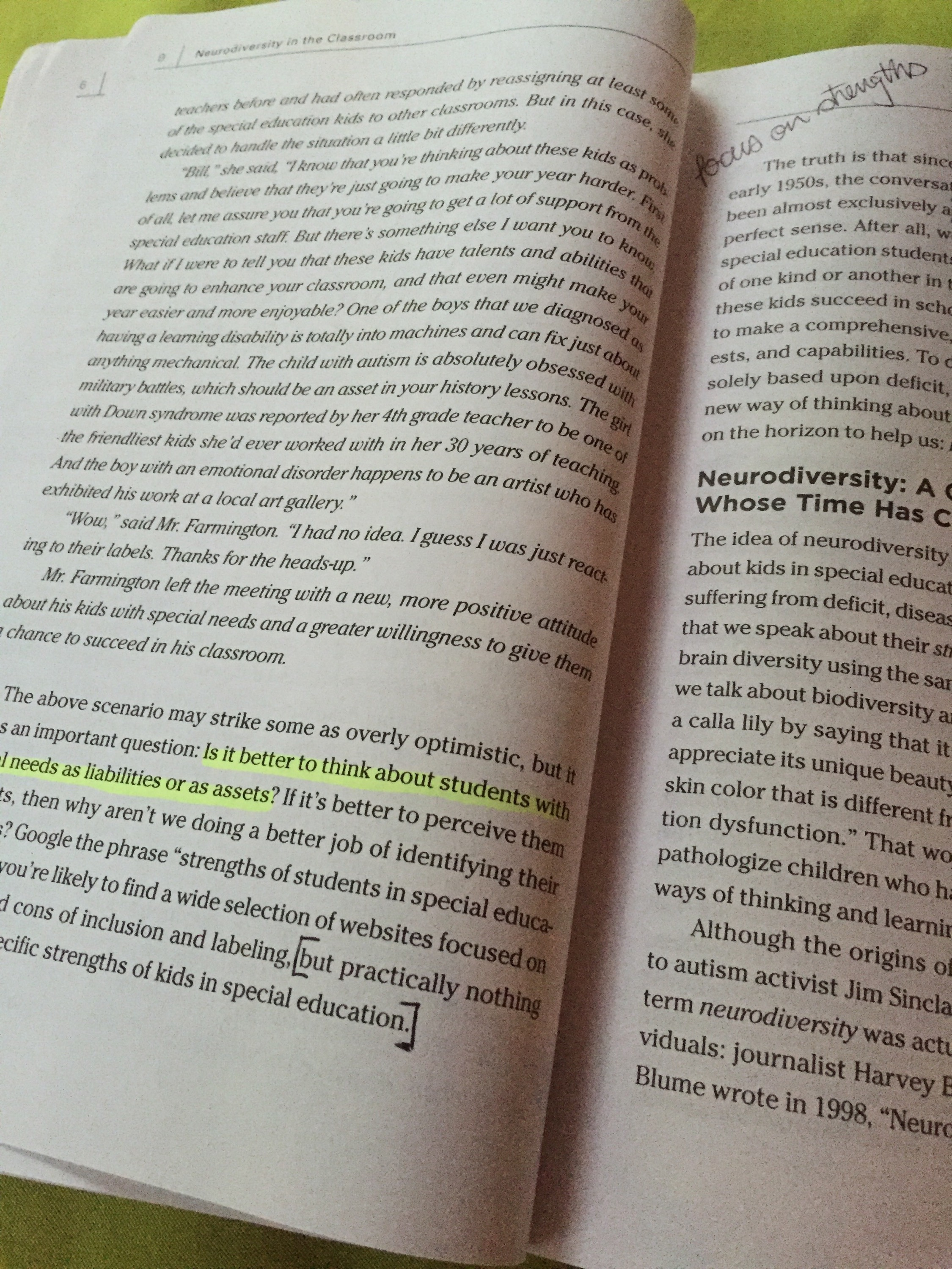 Neurodiversity And Differentiation >> Kiat Book Club Neurodiversity In The Classroom Ch 1